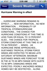 """HURRICANE WARNING REMAINS IN..."