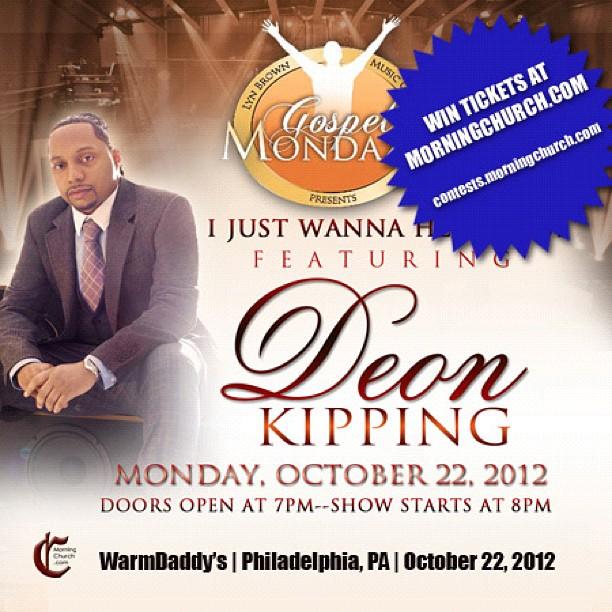 RT! Join @MorningChurch in Philly w/ @ThatDudeDeon on 10/22! gospelmondaze.morningchurch.com - from Instagram