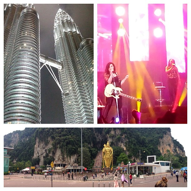 Kuala Lumpur was indescribable! The architecture, the natural beauty of the land, and the awesome fans that stood in the drenching rain for our performance- amazing! I def need a visit back! #Malaysia - from Instagram